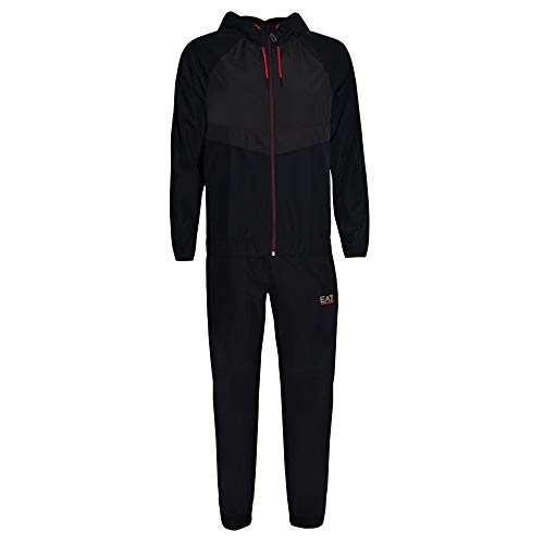 EA7 Men's Clothing Emporio Armani Men's EA7 Ventus7 Black Tracksuit XXL