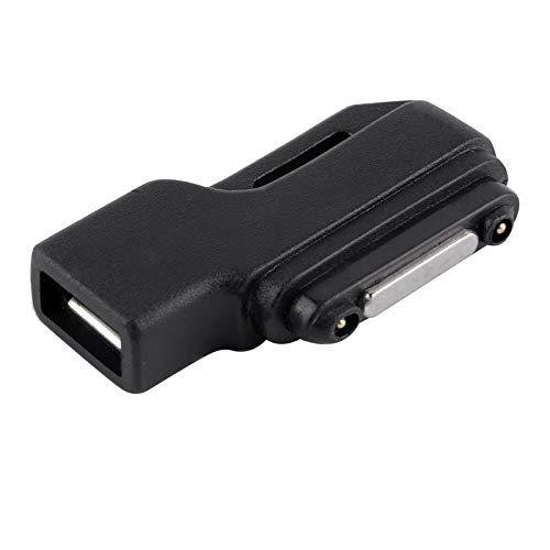 Color Yun Adaptador de Base de Cargador de Carga Micro USB a magnético para Sony Xperia Z1 / Z2 / Z3 (Negro)