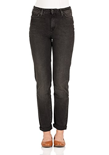 Lee Dames Jeans Mom - Straight Fit - Zwart - Punk Deluxe