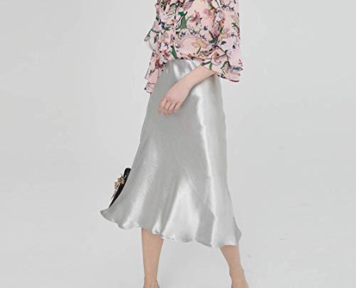Greetuny 1X Falda Ajustada Plateada Verano 2019 Falda Mujer con Vuelo Falda Fiesta Mujer Elegante