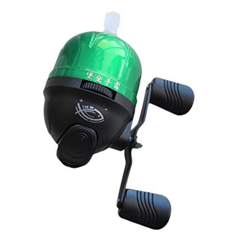 YIJU Ultralight Spincast Fishing Reel Closed Face Reel Under-Spin Reel Saltwater - Green, 5.8x9x7cm