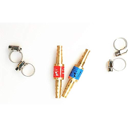 BAIJIAXIUSHANG-TIES Ventile, Armaturen Sauerstoff-Acetylen-Rückschlagventil Rückschlagsicherung Flamme Buster for Druckminderer Regler Gas-Schneidbrenner for Rohr (Size : OD 6mm)