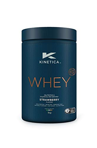 Kinetica Whey Protein Powder, 33 Servings, Strawberry, 1kg