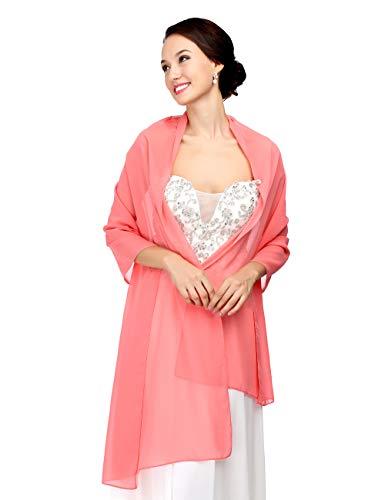 CoCogirls chiffon stola sjaal voor jurken in verschillende kleuren voor elke bruidsjurk - avondjurk, bruiloft avond gala ontvangst