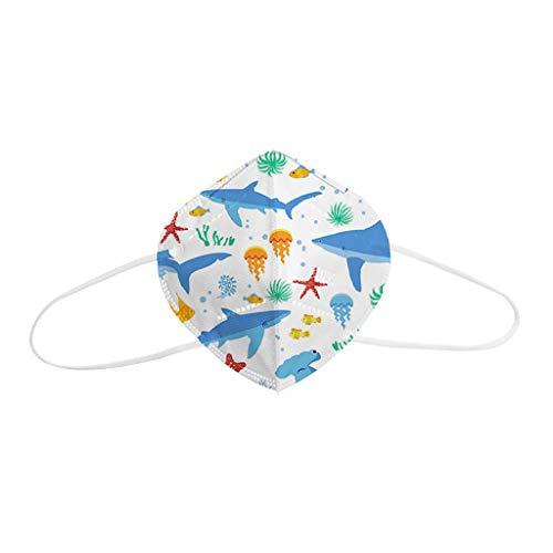 Bufanda Unisex para Niños, Estampado Universal de Mariposas, Bonita Escuela Diaria para Niños, Máscara de Colores con Cepillo bucal de Algodón, Tejido Lavable y Reutilizable