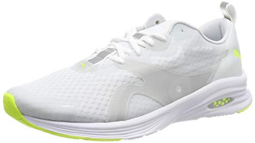 PUMA Hybrid Fuego Lights, Zapatillas de Running para Hombre, White-Yellow Alert, 39 EU