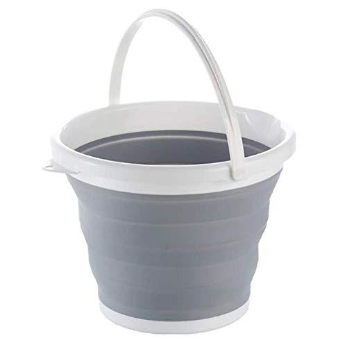 K-ONE Actualización de Cubo de Agua Plegable con Anillo de Refuerzo Cocina de Camping Barriles de Pesca Plegable Colapible Baño Plegable Lavado de Autos, 1.5L