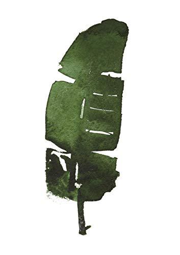 Preisvergleich Produktbild YHSM Aquarell Blätter Wandkunst Leinwand Poster und Drucke Minimalistische Malerei Wandbilder Dekorative Nordischen Stil Dekoration 30X42 cm Kein Rahmen 11