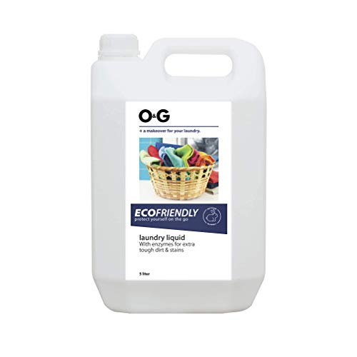 O&G Liquid Detergent Suitable For Top Load and Front Load Detergent, Detergent Liquid for Machine and Hand Wash