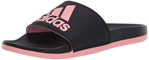 adidas Performance Women's Adilette Comfort Slide Sandal, Black/Black/Black, 10 M US