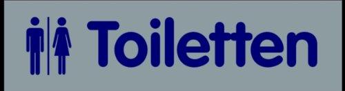 LEMAX® Schild PVC Türschild 'Toiletten' selbstklebend 40x160mm