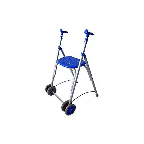 Forta fabricaciones - Andador de aluminio con asiento de FORTA Kamaleón - Azul, Sin ruedas traseras, Sin cesta