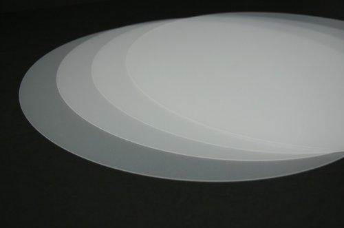 Vogt Foliendruck GmbH Tischset transparent abwaschbar 38 cm rund 4-teilig Tischunterlage Matte