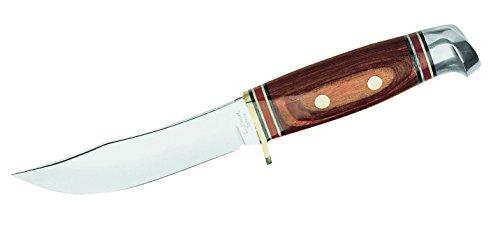 Herbertz Messer Fahrtenmesser Pakkaholz Lederscheide Gesamtlänge: 21.7cm, grau, M