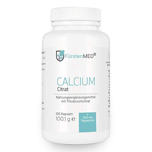FürstenMED® Calcium Citrat Kapseln - Reines Calciumcitrat - 120 Kapseln aus Deutschland - Vegan und ohne Zusatzstoffe