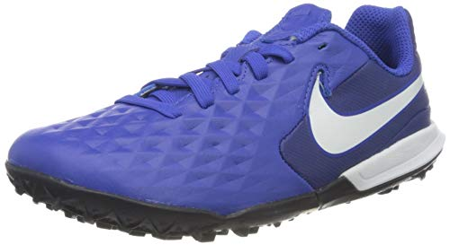 Nike Jr. Tiempo Legend 8 Academy TF, Botas de fútbol Unisex niño, Multicolor (Hyper Royal/White/Deep Royal Blue 414), 36 EU