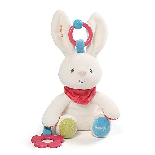 Baby GUND Flora The Bunny Plush Activity Toy 8.5'