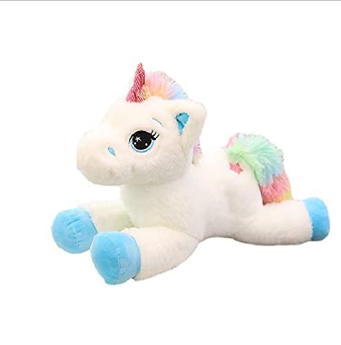 40Cm Kawaii Unicornio Almohada Cojín Juguetes, Juguetes de Peluche de Animales de algodón Suave, Muñeca de Peluche Juguetes para niños, Decoración de la habitación del bebé
