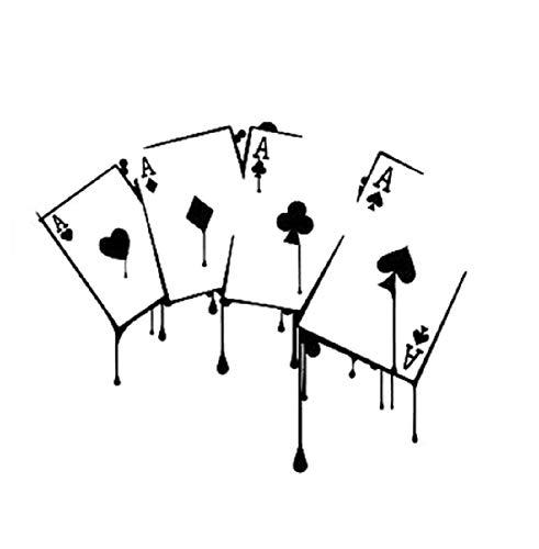 Jinling 15.6 * 12.7cm Funny Casino Poker Game Sticker Etiqueta engomada gráfica Vinilo (Color : 1)