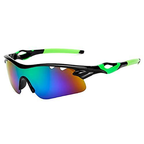 HUIHUAN Radfahren Brille Fahrer Fahren Sonnenbrille Sonnenbrille Flut Menschen Reiten Explosionsgeschützte Brille Nachtsicht Spiegel Sport Spiegel,Green