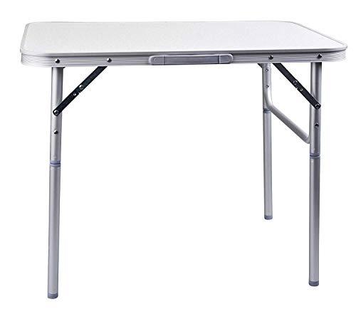 Kronleuchter Aluminium Klapptisch Campingtisch 90x60cm Gartentisch Beistelltisch Klapptisch Picknicktisch Aluminium klappbar und höhenverstellbar
