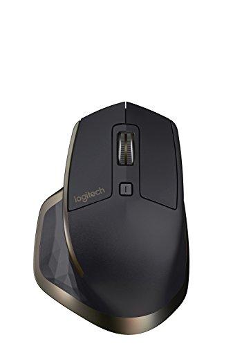 Logitech MX Master Mouse Wireless, Sensore ad Elevata Precisione, Rotella di Scorrimento con Adattamento della Velocità, Commutazione Facile Fino a 3 Dispositivi, Nero/Oro