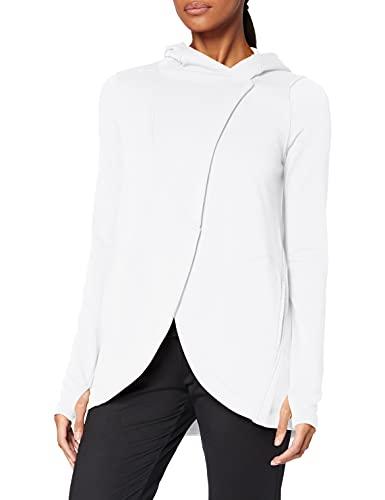 Marca Amazon - AURIQUE Sudadera Cruzada con Capucha Mujer, Blanco (White), 38, Label:S
