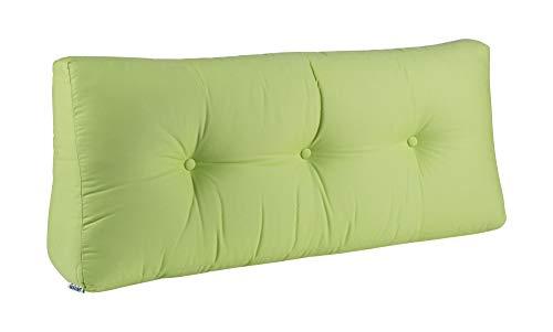 BioKinder Rückenkissen Keilkissen Sofakissen 100 x 40 cm aus Baumwolle in grün