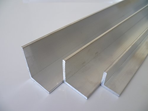 B&T Metall Angle en aluminium 40 x 40 x 4 mm en AlMgSi0,5 F22 soudé anodisable Longueur env. 1,5 m (1500 mm +0/- 3 mm)
