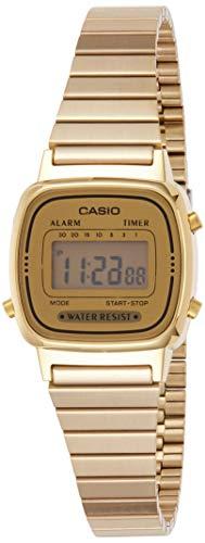Casio Reloj Digital para Mujer de Automático con Correa en Acero Inoxidable con tonalidades Doradas LA670WGA-9D