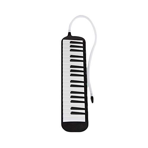 HshDUti 37 Key Melodica Mundharmonika Klavierstil Aufführungsinstrument für Schüler Black