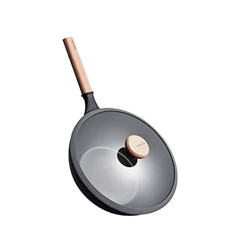 Heqianqian Sartén antiadherente Sartén Olla de cocina Utensilios de cocina sin humo Panfor inducción, cocinas eléctricas y de gas