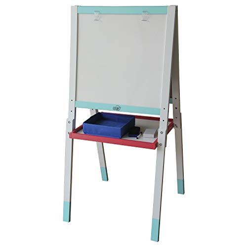 Sunny Schultafel und Whiteboard-Tafel, höhenverstellbar, Holz, Maltafel