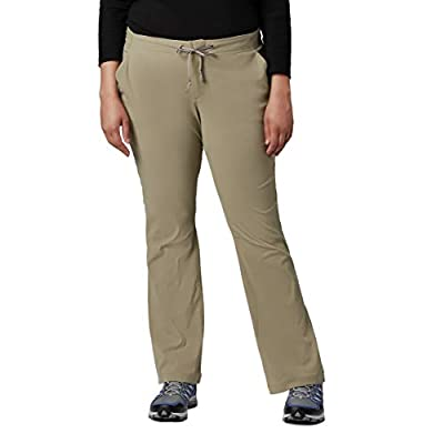 Columbia Women's Standard Anytime Outdoor Boot Cut Casual Pant, Tusk, 6 Regular