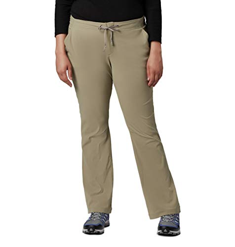 Columbia Women's Anytime Outdoor Plus Size Boot Cut Pant, Tusk, 24W Regular