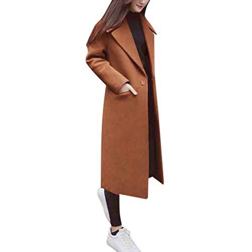 Cappotto Donna Lana Elegante, Donna Casuale Cashmere Cardigan Autunno Giacca Risvolto Invernale Maglione Cappotto Donna Cammello Pelliccia Cappotto Giacca Nero
