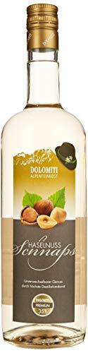 DOLOMITI Haselnuss Schnaps 35% vol. | Haselnussschnaps | milder Haselnussschnaps | 1 x 1 Liter