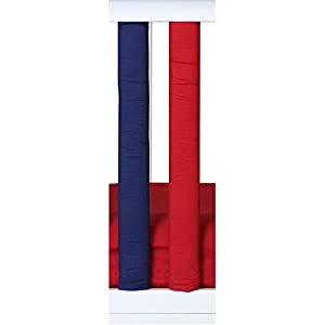 Pure Safety Vertical Crib Liners 2 Pack in Red/Navy Blue
