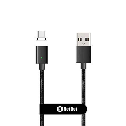 Netdot Gen7 Nylon Trenzado USB C Cable de Carga magnético rápido Compatible...
