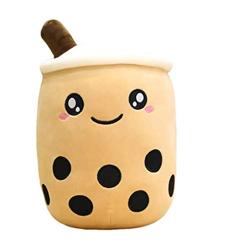 TENGOKU 15' Bobaholic Kawaii Boba Tea Plushie Authentic Brand Cute Stuff Japanese Decor Boba Plush Super Soft Anime Room Decor Squishy Toy ( Happy Boba)