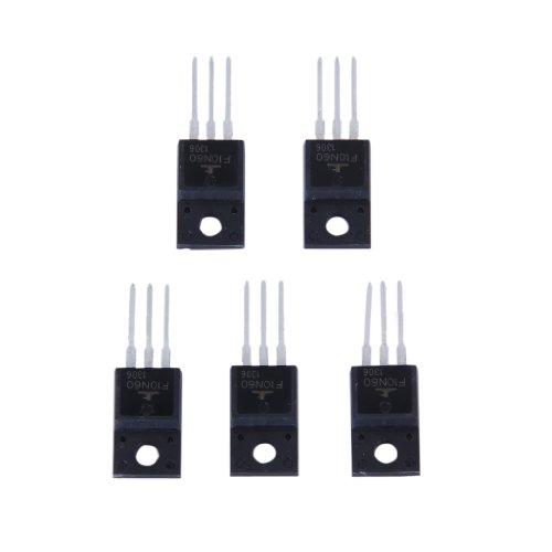 MagiDeal 5er 10N60 Energie Transistor MOSFET N-Kanal-Verstärker 10A 600V TO-220F