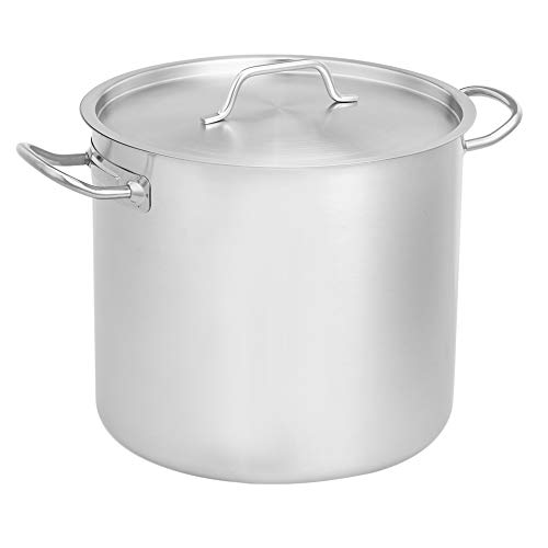 AmazonCommercial 18.9 l Stainless Steel Aluminium-Clad Stock Pot with Cover
