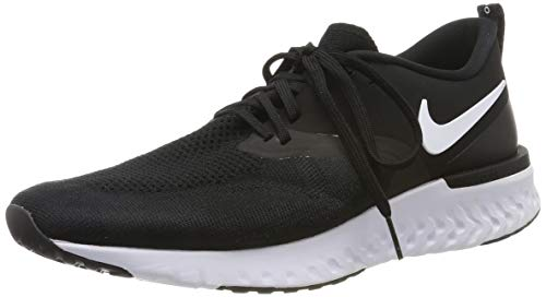 Nike Odyssey React 2 Flyknit, Scarpe da Running Uomo, Nero (Black/White 010) , 44 EU