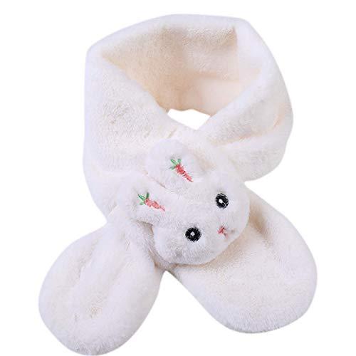 Niños y niñas bufanda cálida bufanda bufanda gruesa bufanda de invierno patrón de conejo kawaii grueso suave y hermoso 80cm X12cm