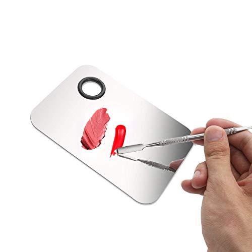 Lápiz labial de maquillaje Nail Art mezcla paleta de acero inoxidable con espátula herramientas BT057