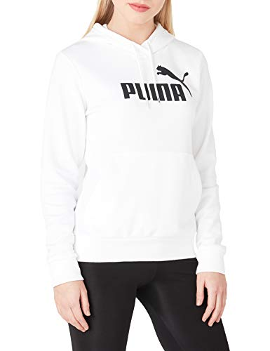 PUMA Logo Capuchon Essentials Sudadera con Capucha premamá, Blanc, XL para Mujer