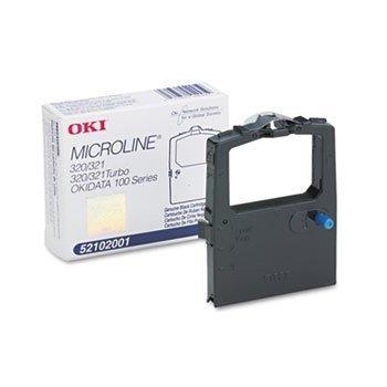 Okidata 52102001 Microline 320 321 Ribbon Cartridge  Black 6-Pack