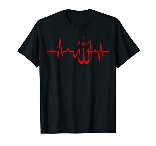Muslim Herzschlag Allah Spirituelle Religiöse T-Shirt