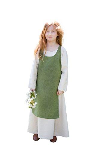 Kinderüberkleid Ylva - Lindgrün 128