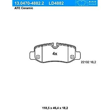 Bremsbelagsatz ATE 13.0460-4882.2 Scheibenbremse